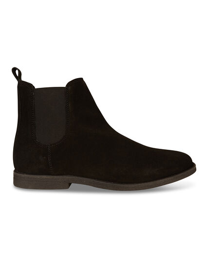 HEREN REAL LEATHER CHELSEA BOOTS Zwart
