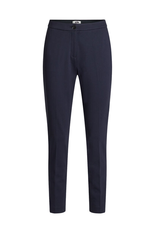 Dames tricot slim fit stretch pantalon Donkerblauw