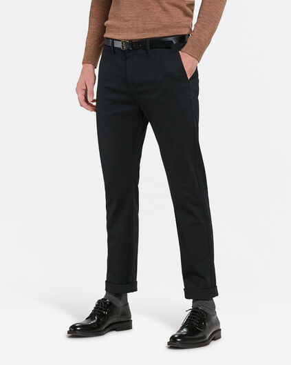HEREN SKINNY FIT CHINO Zwart