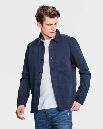 HEREN RELAXED FIT BLUE RIDGE OVERHEMD Donkerblauw