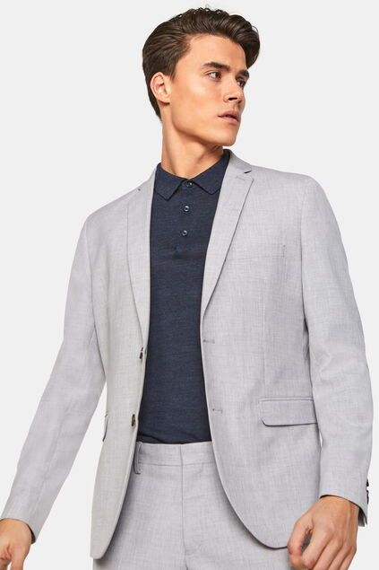 Heren regular fit blazer Dali Lichtgrijs
