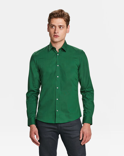 HEREN SLIM FIT STRETCH OVERHEMD Groen