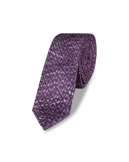HEREN GRAPHIC PRINT TIE Aubergine