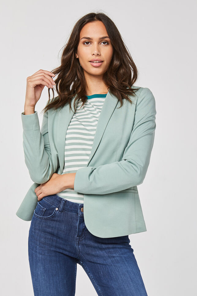 Dames regular fit blazer Mintgroen