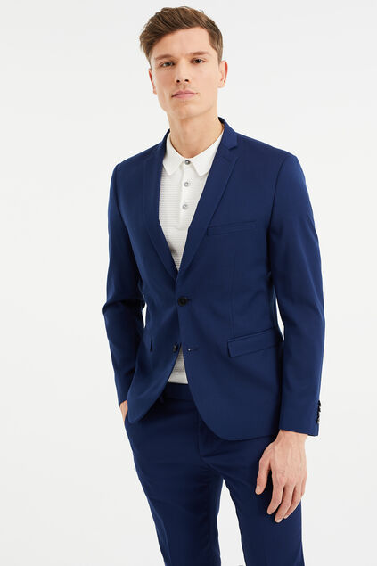 Heren slim fit blazer, Dali Blauw