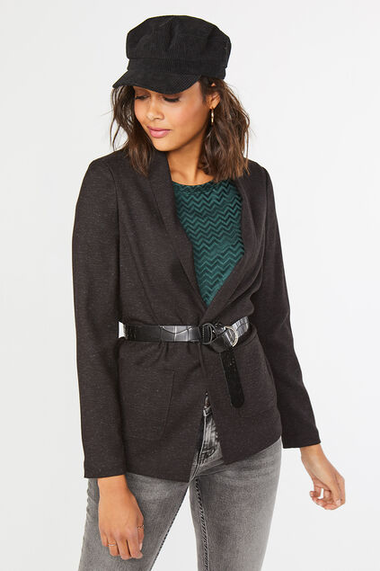 Dames regular fit blazer Antraciet