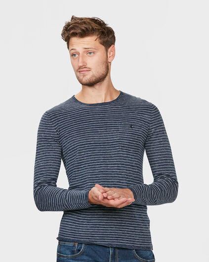 HEREN STRIPED TRUI Blauw