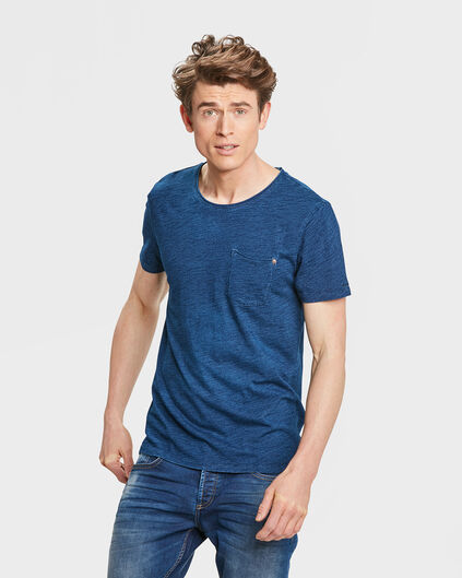 HEREN BLUE RIDGE INDIGO T-SHIRT Donkerblauw