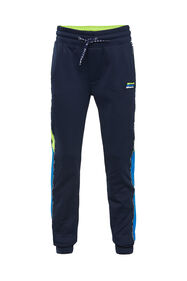 Jongens sweatpants met tapedetail_Jongens sweatpants met tapedetail, Donkerblauw