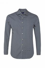 Heren slim fit overhemd met dessin_Heren slim fit overhemd met dessin, All-over print
