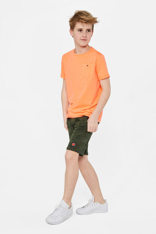 Jongens sweat short met dessin Legergroen
