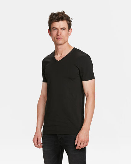 HEREN TALL FIT T-SHIRT 2-PACK Zwart
