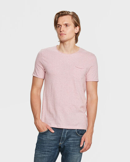 HEREN CHEST POCKET T-SHIRT Roze