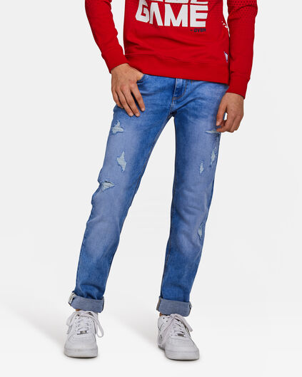 Jongens slim fit jog denim jeans Blauw