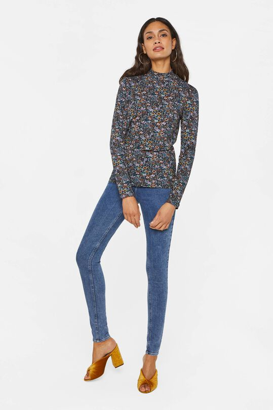 Dames T-shirt met col All-over print