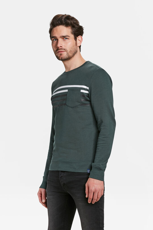 HEREN STRIPE DETAIL SWEATER Groen