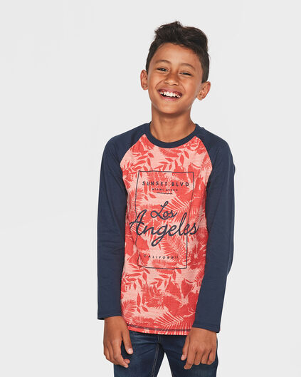 JONGENS RAGLAN ALL-OVER PRINT SHIRT Oranje