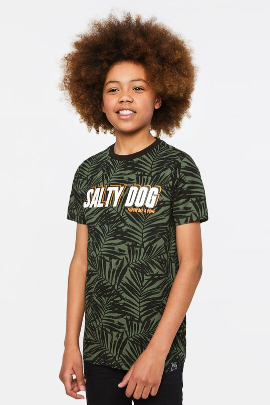 Jongens T-shirt met tekstopdruk All-over print