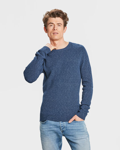 HEREN DENIM TRUI Marineblauw