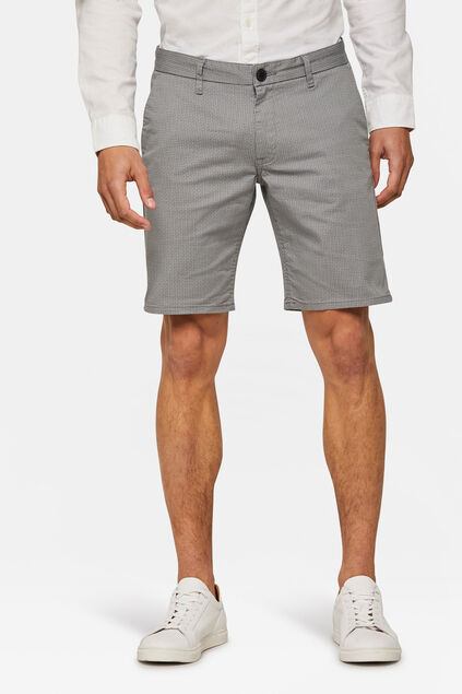 Heren regular fit dessin chino short Grijs
