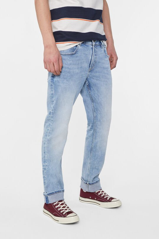 Heren regular fit jog denim jeans Lichtblauw