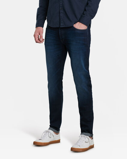 HEREN SKINNY JOG DENIM TAPERED JEANS Blauw