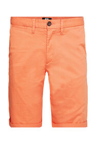 Heren slim fit chinoshort met stretch_Heren slim fit chinoshort met stretch, Oranje