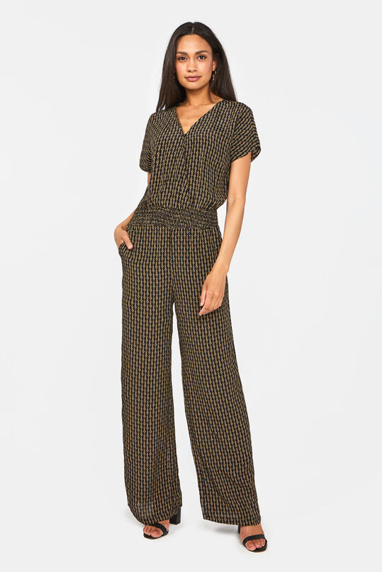 Dames jumpsuit met kettingdessin All-over print