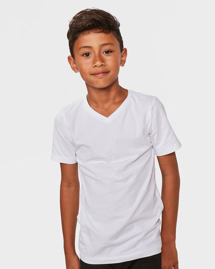 JONGENS V-NECK T-SHIRT Wit