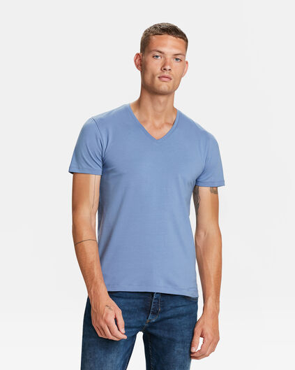 HEREN ORGANIC COTTON T-SHIRT Grijsblauw