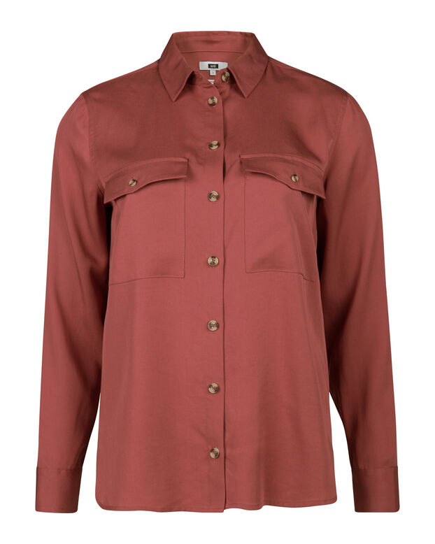 DAMES LYOCELL BLOUSE Lichtrood
