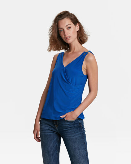 DAMES WRAP TOP Blauw