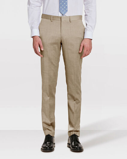 HEREN SLIM FIT PANTALON COLOMBO Lichtbruin