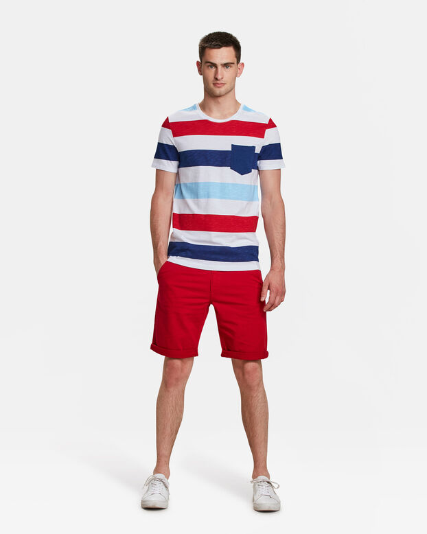 HEREN REGULAR FIT CHINO SHORT Rood