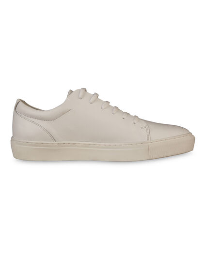 DAMES SOLID REAL LEATHER SNEAKERS Wit
