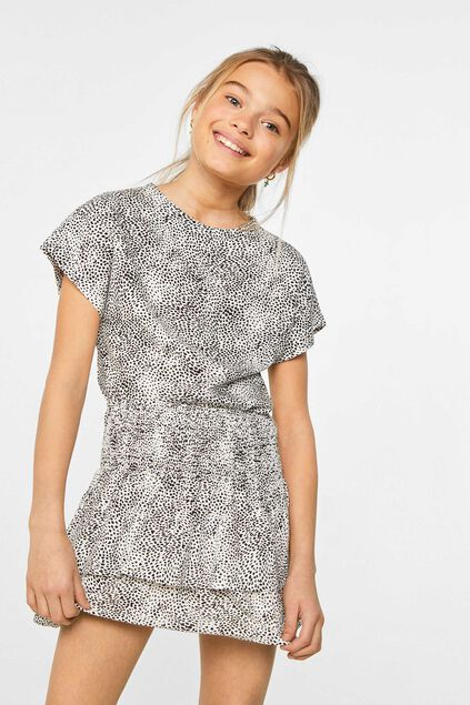 Meisjes blouse met dessin All-over print
