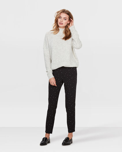 DAMES SKINNY FIT PRINTED PANTALON Zwart