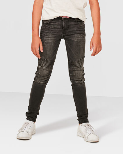 MEISJES SUPER SKINNY POWER STRETCH JEANS Grijs