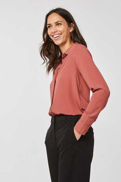Dames slim fit blouse Oudroze