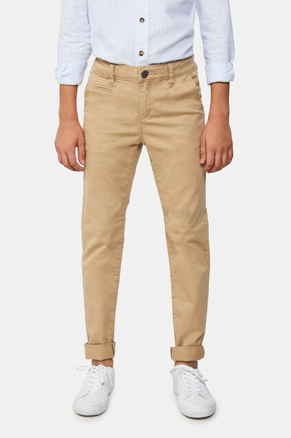 Jongens slim fit chino Beige