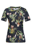 Dames T-shirt met bloemendessin, All-over print