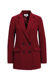 Dames regular fit double-breasted blazer_Dames regular fit double-breasted blazer, Rood