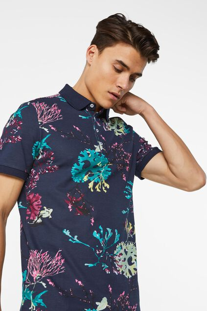 Heren polo met dessin All-over print