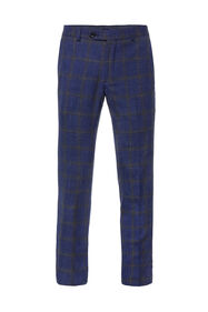 Heren slim fit geruite pantalon Celso_Heren slim fit geruite pantalon Celso, All-over print