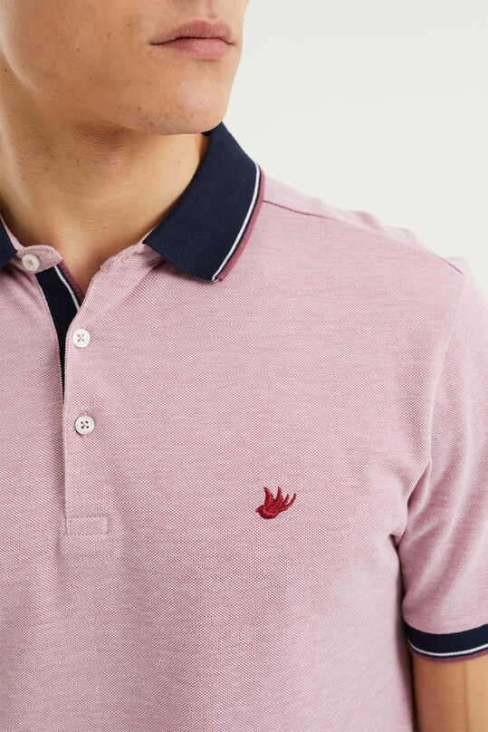 Heren slim fit polo Oudroze