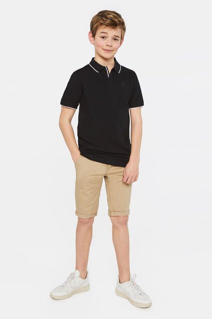 Jongens slim fit chino short Beige