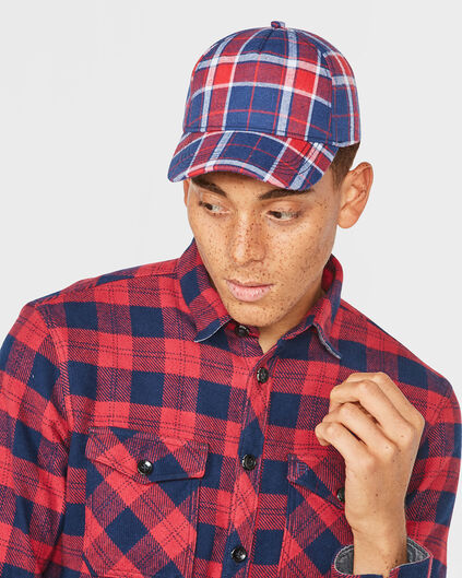 HEREN BLUE RIDGE CHECK CAP Marineblauw