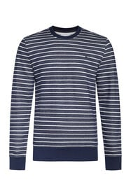 Heren gestreepte sweater_Heren gestreepte sweater, Marineblauw