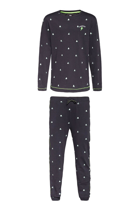 Jongens pyjamaset met glow in the dark print Donkerblauw