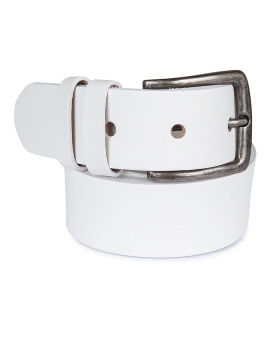 HEREN REAL LEATHER RIEM Wit